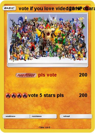 Pokemon vote if you love videogame characters
