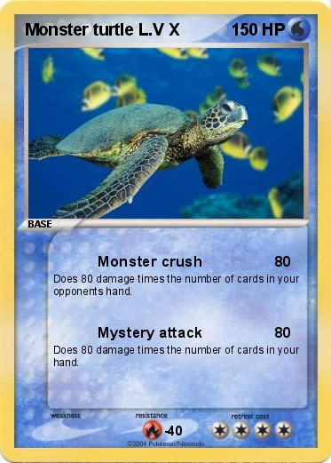 Pokemon Monster turtle L.V X