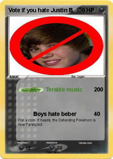 Pokemon Vote if you hate Justin B