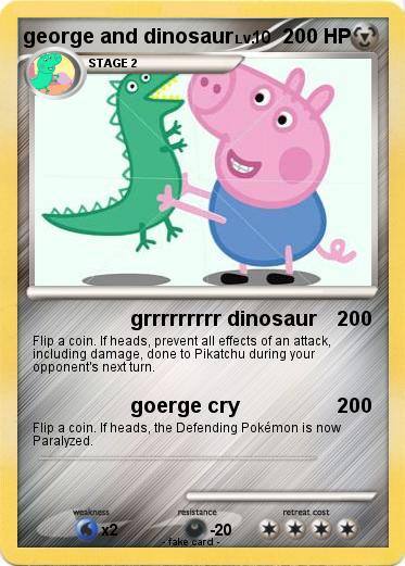 Pokemon george and dinosaur