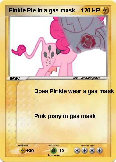 Pokemon Pinkie Pie in a gas mask