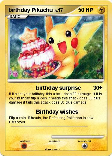 Pokemon birthday Pikachu