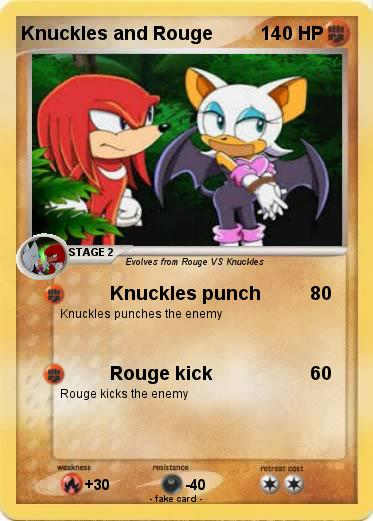 Pokemon Knuckles and Rouge