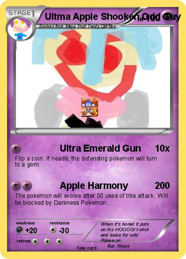 Pokemon Ultma Apple Shooken Odd Guy