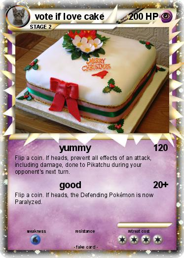 Pokemon vote if love cake