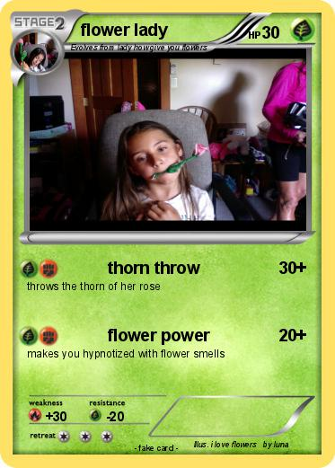 Pokemon flower lady