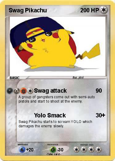 Pokemon Swag Pikachu