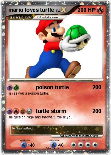 Pokemon mario loves turtle