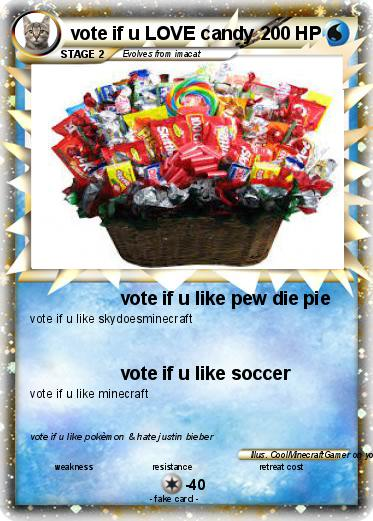 Pokemon vote if u LOVE candy