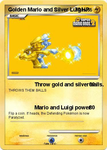 Pokemon Golden Mario and Silver Luigi