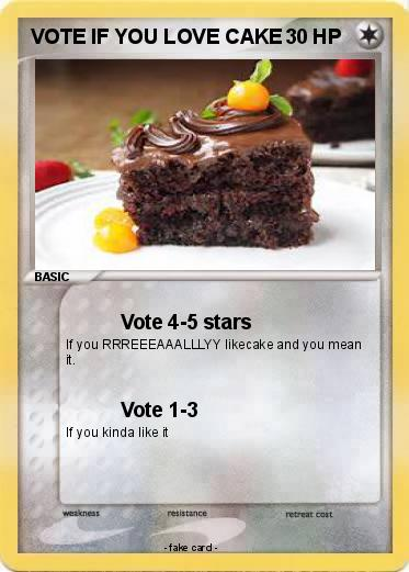 Pokemon VOTE IF YOU LOVE CAKE