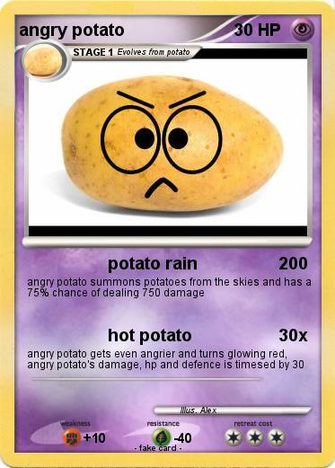 Pokemon angry potato