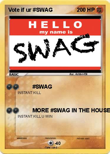Pokemon Vote if ur #SWAG