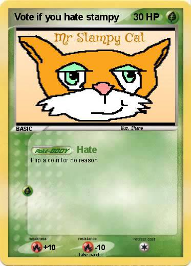 Pokemon Vote if you hate stampy
