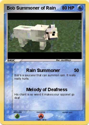 Pokemon Bob Summoner of Rain