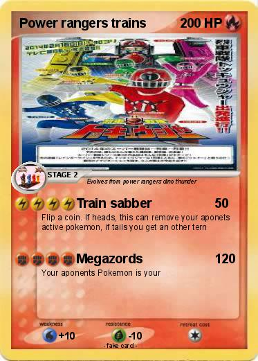 Pokemon Power rangers trains