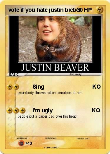 Pokemon vote if you hate justin bieber