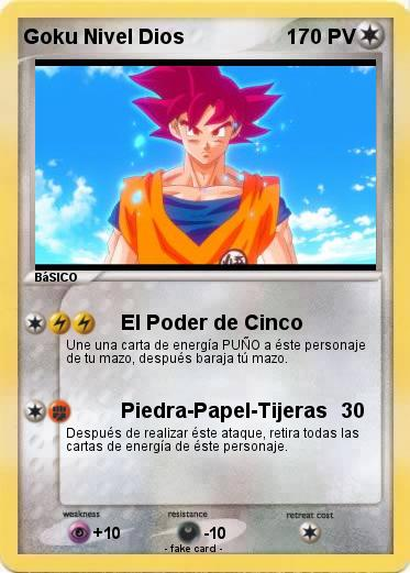 Pokemon Goku Nivel Dios
