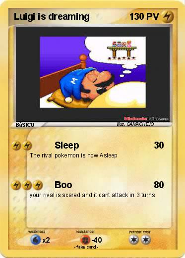 Pokemon Luigi is dreaming