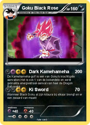 Pokemon Goku Black Rose