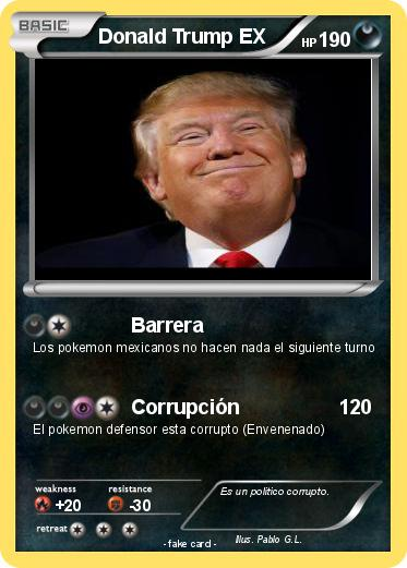 Pokemon Donald Trump EX
