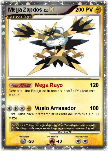 Pokemon Mega Zapdos