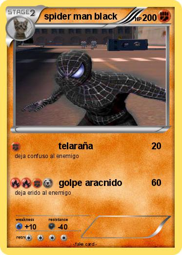 Pokemon spider man black