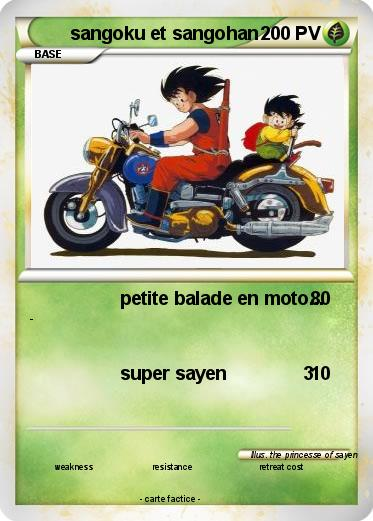 Pok mon sangoku et sangohan 1 1 petite balade en moto - Sangoku sangohan ...