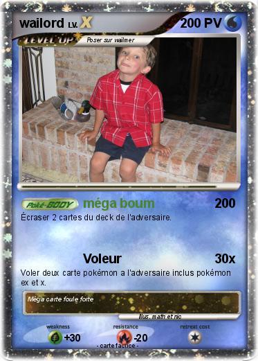 Pok mon wailord 952 952 m ga boum ma carte pok mon - Carte pokemon wailord ...