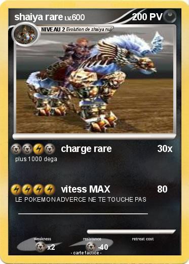 Pok mon shaiya rare charge rare ma carte pok mon - Les pokemon rare ...