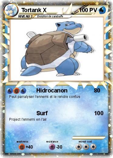 Pok mon tortank x 8 8 hidrocanon ma carte pok mon - Tortank pokemon y ...