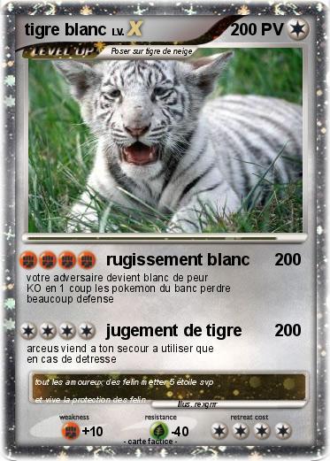 Pok mon tigre blanc 116 116 rugissement blanc ma carte pok mon - Photo de tigre blanc a imprimer ...