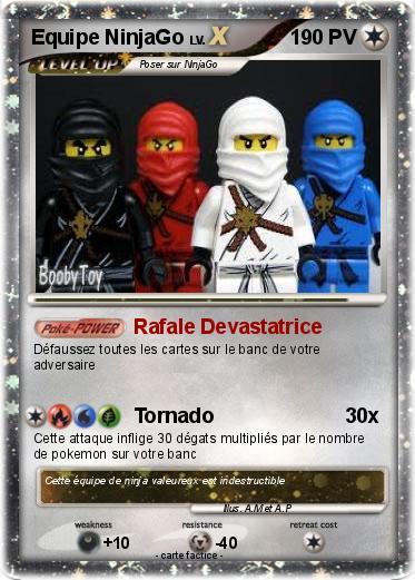 Pok mon equipe ninjago rafale devastatrice ma carte - Carte ninjago ...
