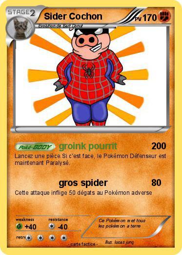 Pok mon sider cochon groink pourrit ma carte pok mon - Cochon pokemon ...