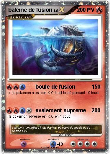 Pok mon baleine de fusion boule de fusion ma carte pok mon - Pokemon baleine ...