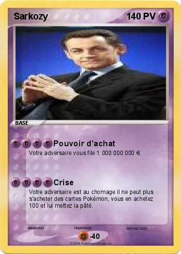 vente de carte pokemon Pokemon Sarkozy 11