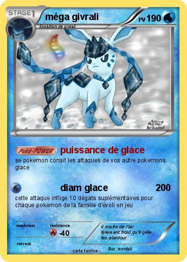 Pok mon mega givrali 2 2 puissance de glace ma carte pok mon - Givrali pokemon ...