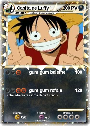 Pok mon capitaine luffy gum gum baleine ma carte pok mon - Pokemon baleine ...