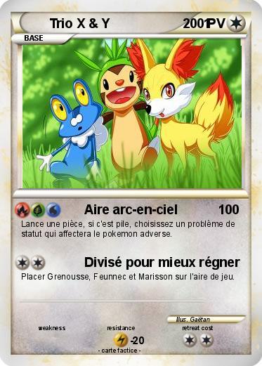Pok mon trio x y 1 1 aire arc en ciel ma carte pok mon - Pokemon x et y legendaire ...