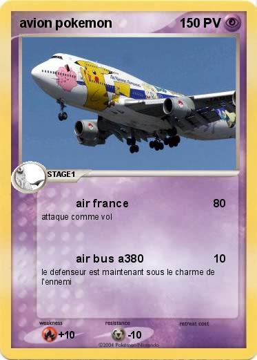 Pok mon avion pokemon 9 9 air france ma carte pok mon - Dessin porte avion ...