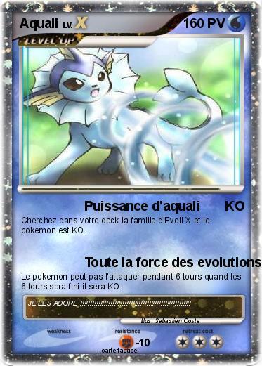 Pok mon aquali 145 145 puissance d 39 aquali ko ma carte pok mon - Carte pokemon aquali ...