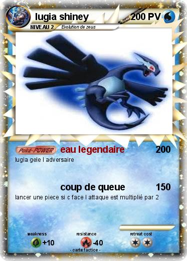 Pok mon lugia shiney 11 11 eau legendaire ma carte pok mon - Legendaire shiney ...