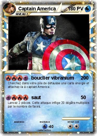 Pok mon captain america 137 137 bouclier vibranium ma - Bouclier capitaine america ...