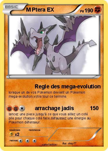 Pok mon m ptera ex regle des mega evolution ma carte pok mon - Pokemon ptera ...