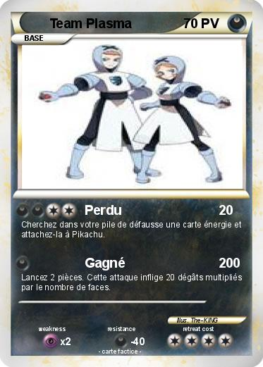 Pok mon team plasma 31 31 perdu ma carte pok mon - Carte pokemon team plasma ...