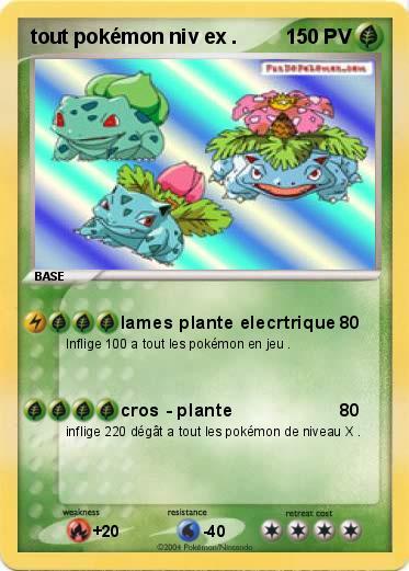 Pok mon tout pokemon niv ex lames plante elecrtrique ma carte pok mon - Tout les carte pokemon ex ...