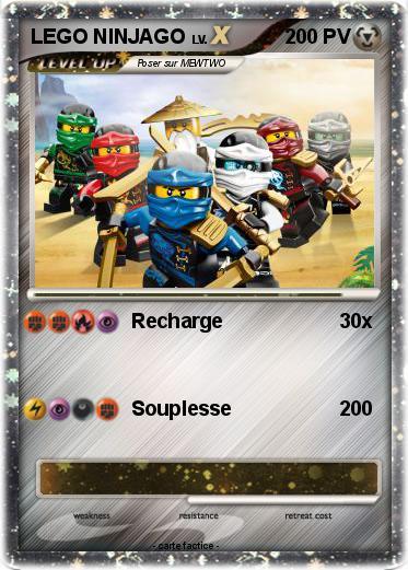 Pok mon lego ninjago 24 24 recharge ma carte pok mon - Carte ninjago ...