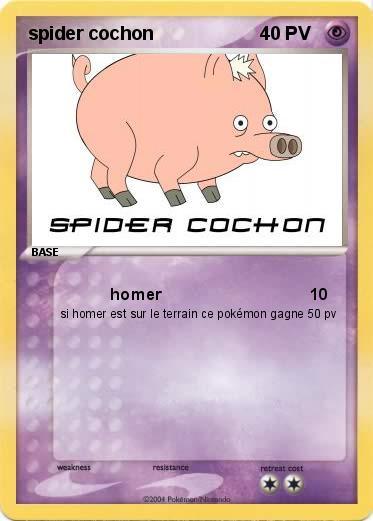 Pok mon spider cochon 11 11 homer ma carte pok mon - Cochon pokemon ...
