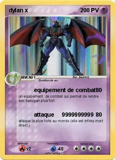 Pok mon dylan 344 344 equipement de combat ma carte - La plus forte carte pokemon du monde ...