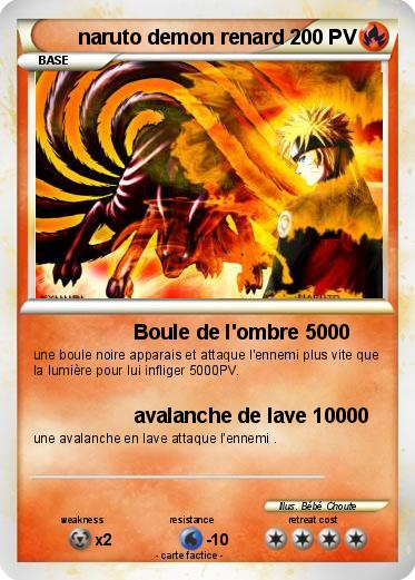 Pok mon naruto demon renard 60 60 boule de l 39 ombre 5000 - Naruto renard ...